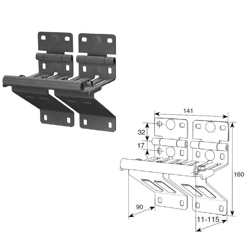 Боковая опора усиленная с удлиненным держателем ролика N25234-33R/RAL9003, шт