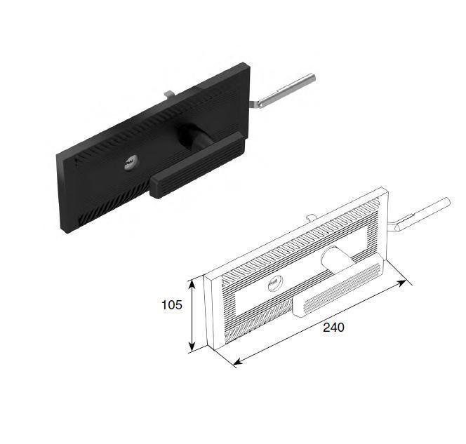 Комплект замка одностороннего для секционных ворот RSD,25074KN