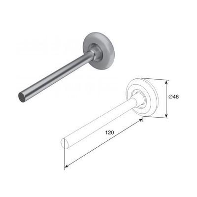 Ролик для секционных ворот Doorhan (120 мм) 25010B