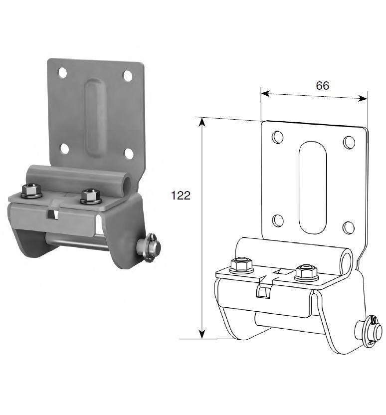 Нижний угловой кронштейн регулируемый RSD01 SPVE1408-RAL9003