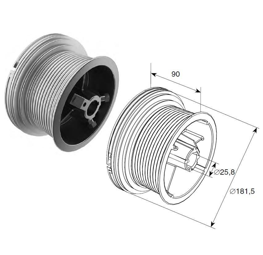 Барабан (OMI  54 HL) HL=1372 мм (пара), арт.1106