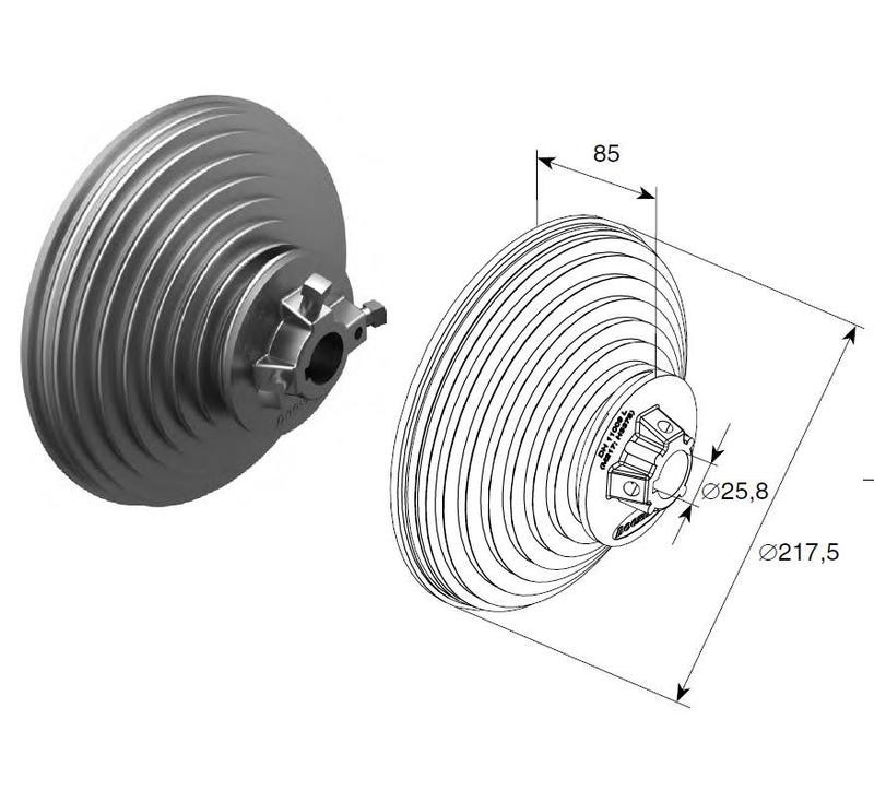 Барабан (OMI 11 VL) H=3378 мм (пара), арт.1109