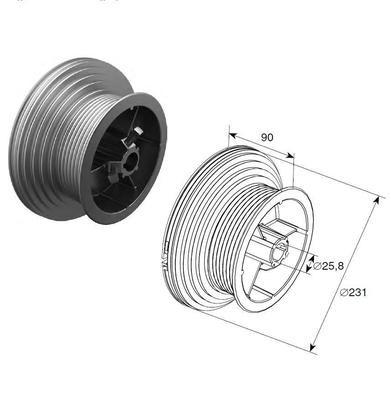 Барабан (OMI 120 HL) HL=3048 мм (пара)