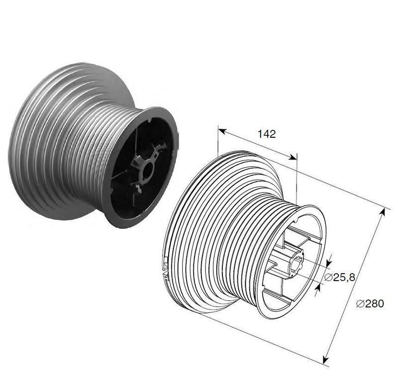 Барабан (OMI 164 HL) HL=4100 мм (пара), арт.11008