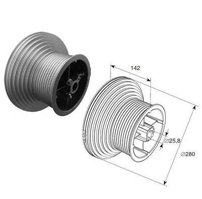 Барабан (OMI 164 HL) HL=4100 мм (пара)