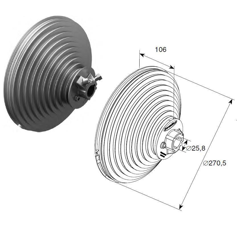Барабан (OMI 18 VL) H=5512 мм ( пара )