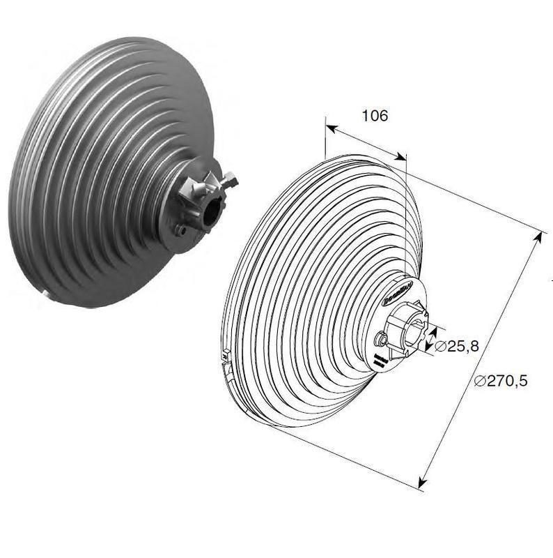 Барабан (OMI 18 VL) H=5512 мм ( пара ), арт.11010