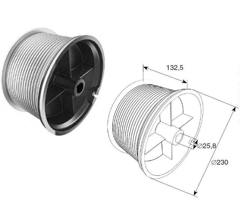 Барабан (OMI 32) H=9780 мм (пара), арт.11003