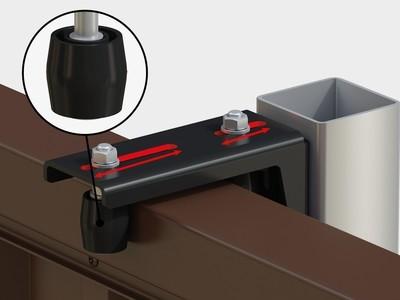 Направляющее устройство увеличенное с новыми роликами RAL9005