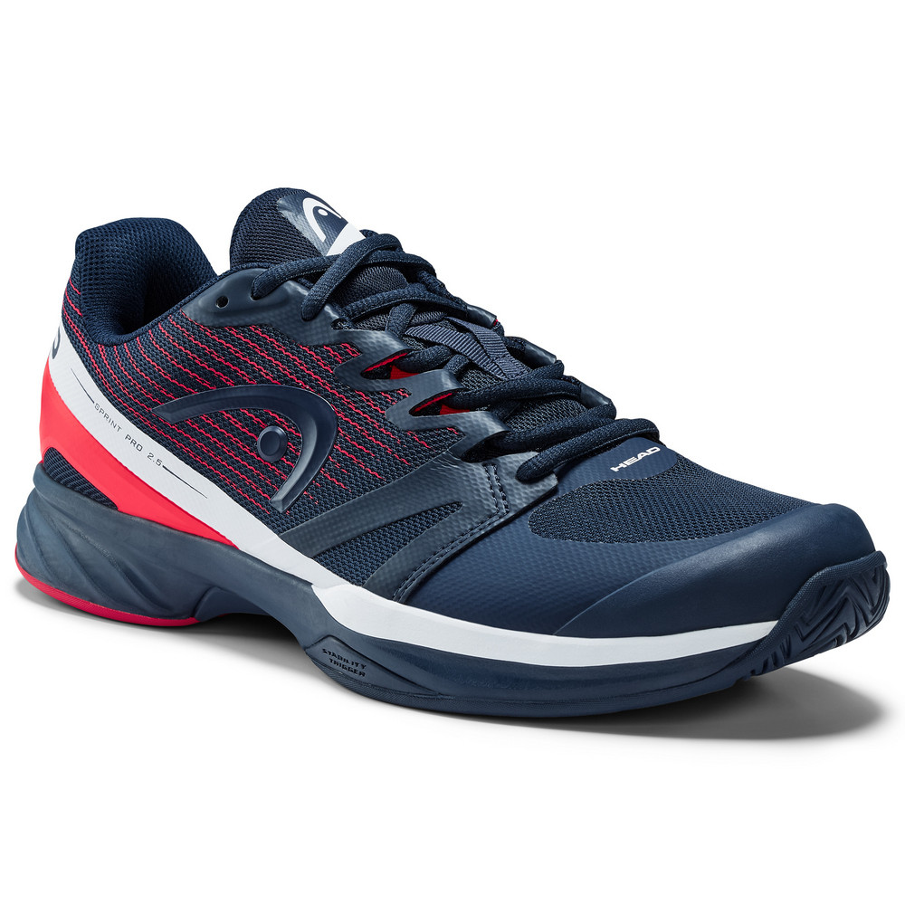 Head Sprint Pro 2.5 Men's Tennis Shoes - Dark Blue/Red