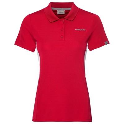Head Girls Club Tech Polo - Red