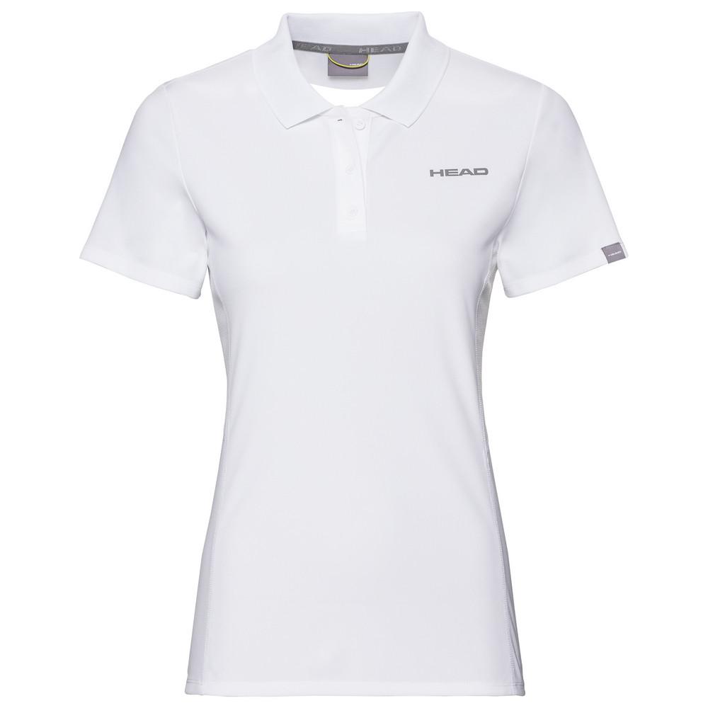 Head Girls Club Tech Polo - White