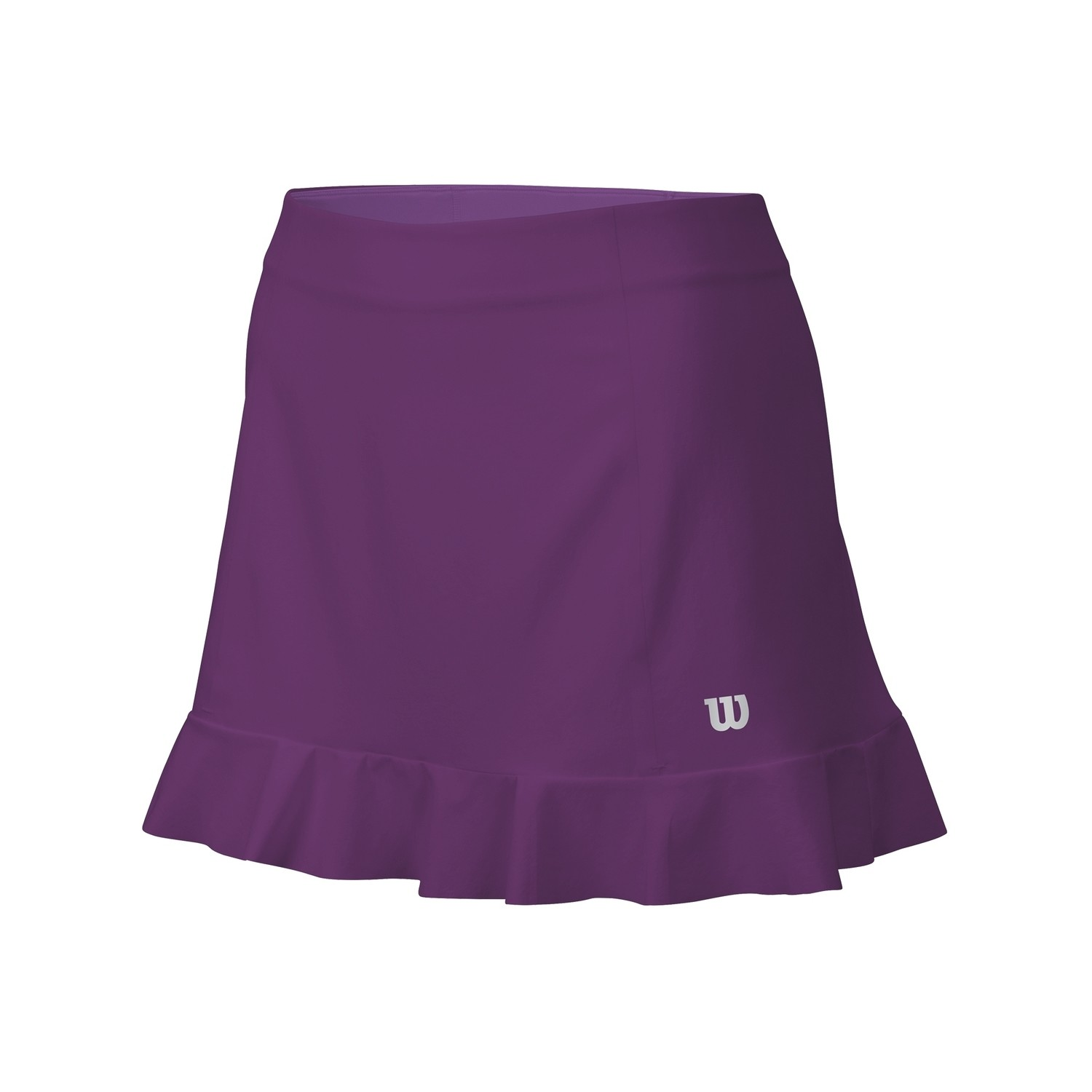 "Wilson Ruffle Stretch 12.5"" Skirt - Dark Plumberry"