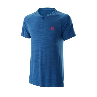 Wilson Competition Seamless Henley Shirt - Imperial Blue