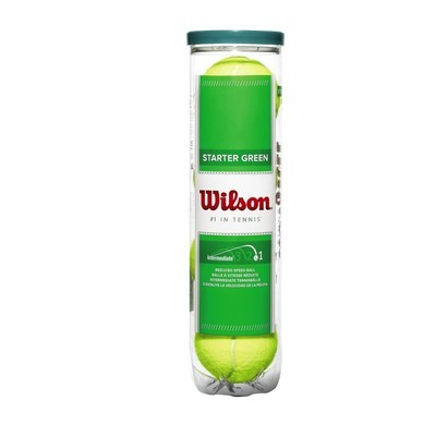 Wilson Green Starter Tennis Balls - 4 Ball Tube