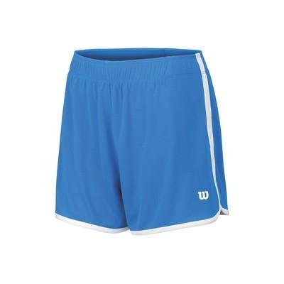 Wilson Ladies Mesh Tennis 3.5 Shorts - Neptune Blue