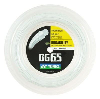 Yonex BG65 Badminton String - 200m Reel