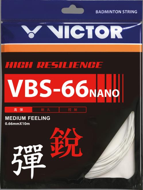 Victor VBS 66 Nano Badminton String Set - White