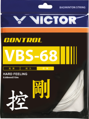 Victor VBS 68 Badminton String Set - White
