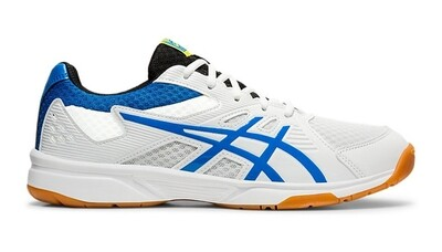 Asics Gel Upcourt 3 Court Shoes - White/Electric Blue