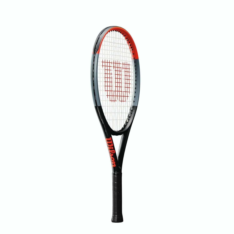 Wilson Clash 25 Junior Tennis Racket - Black/Red