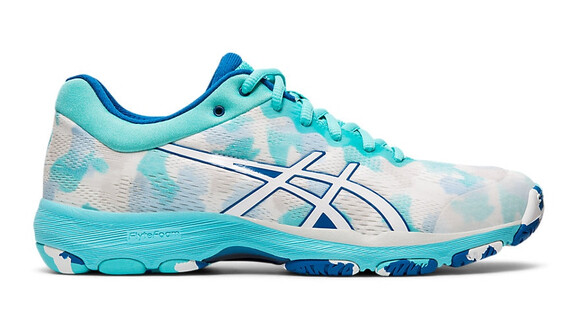 Asics Netburner Professional FF Women's Court Shoes - White/Blue