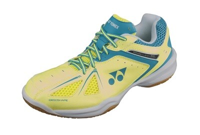 Yonex Power Cushion 35 Ladies Court Shoes - Yellow/Saxe Blue