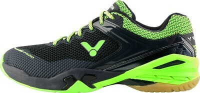 Victor P9210 Court Shoes - Black/Green