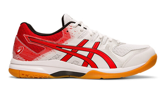 Asics Gel Rocket 9 Court shoes - White/Classic Red