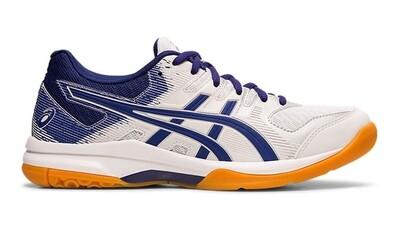 Asics Gel Rocket 9 Women's Court Shoes - White/Dive Blue