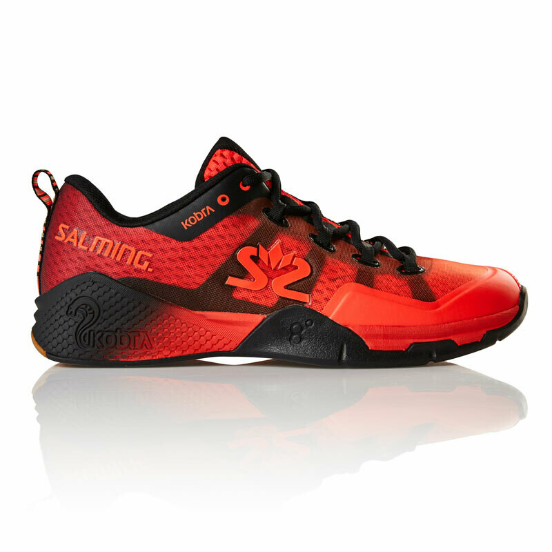 Salming Kobra 2 Court Shoes - Lava Red/Black