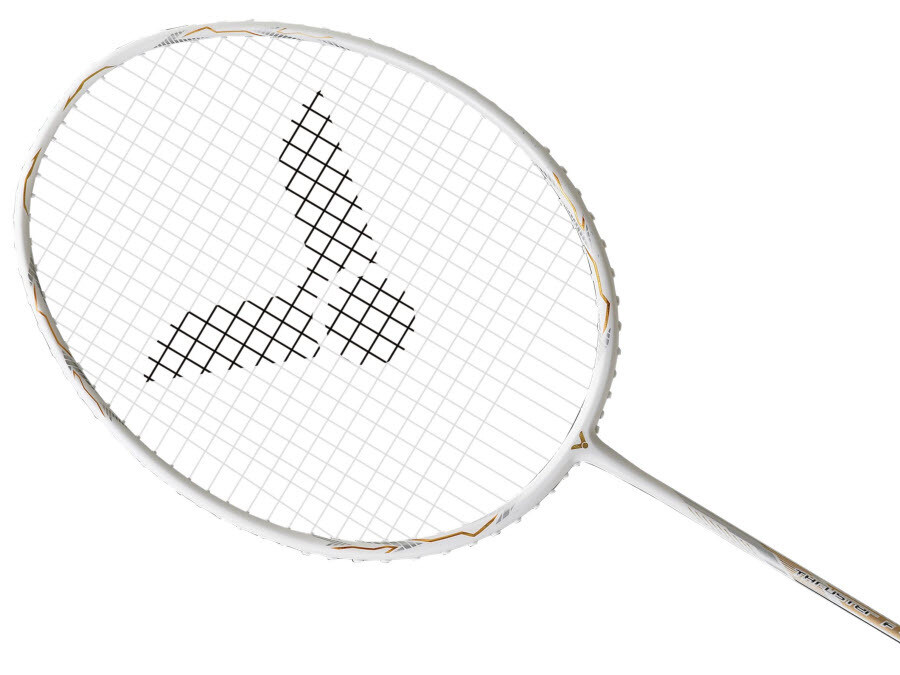 Victor Thruster F Claw Badminton Racket - White/Gold