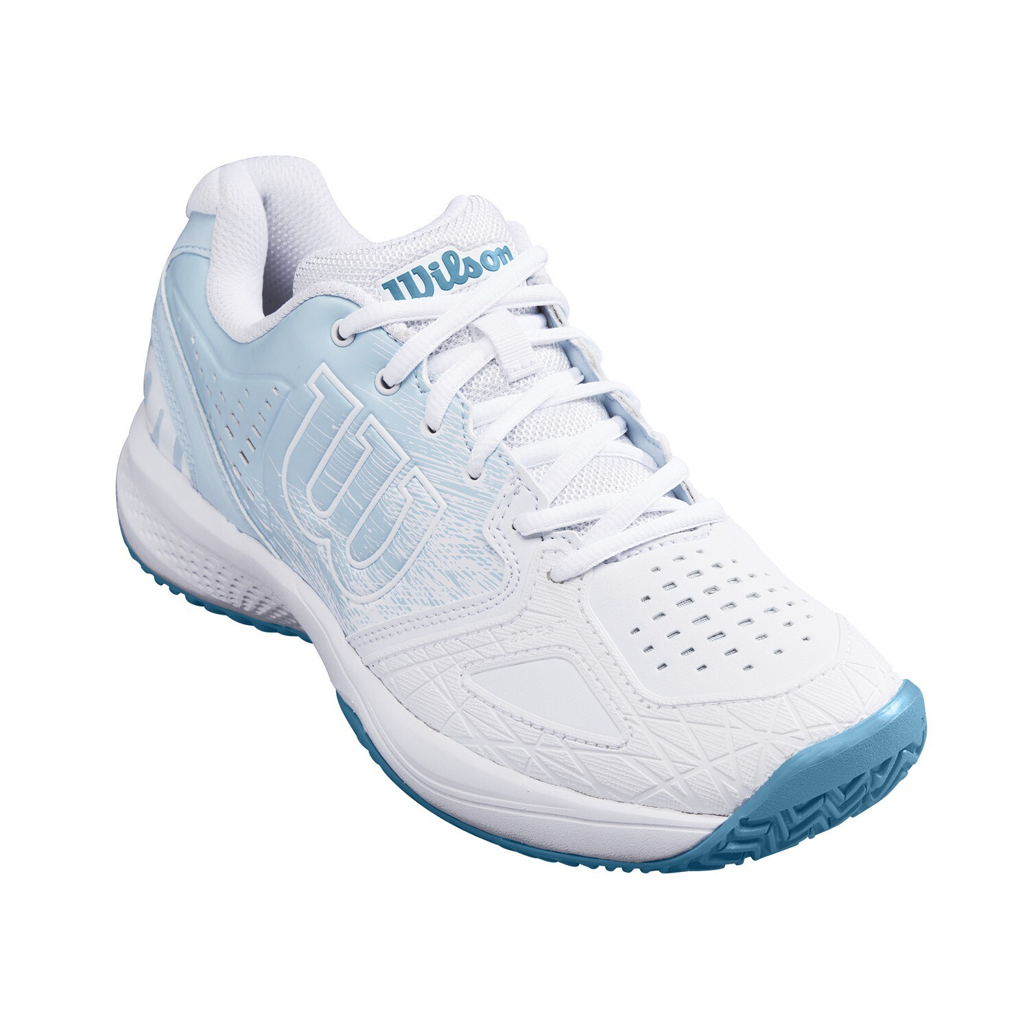 Wilson Kaos Comp 2.0 Women's Tennis Shoes - White/Niagara/Omphalodes