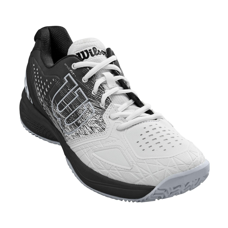 Wilson Kaos Comp 2.0 Men's Tennis Shoes - White/Black/Pearl Blue