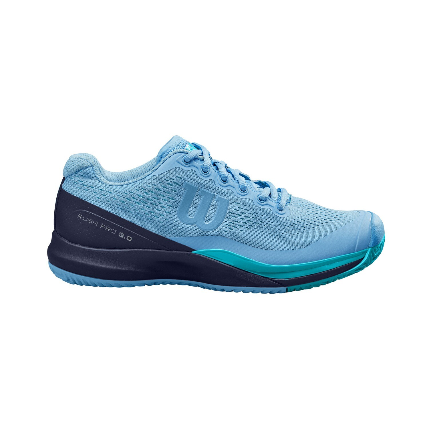 Wilson Rush Pro 3.0 Ladies Tennis Shoes - Alaskan/Peacoat/Scuba