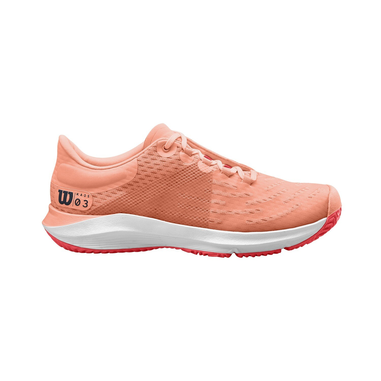 Wilson Kaos 3.0 Ladies Tennis Shoes - Tropical/White/Cayenne