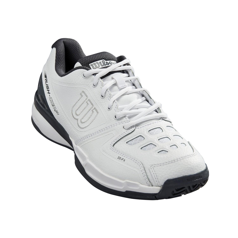 Wilson Rush Comp Leather Tennis Shoes - White/Ebony