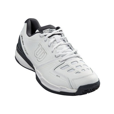 Wilson Rush Comp Leather Tennis Shoes - White/Ebony