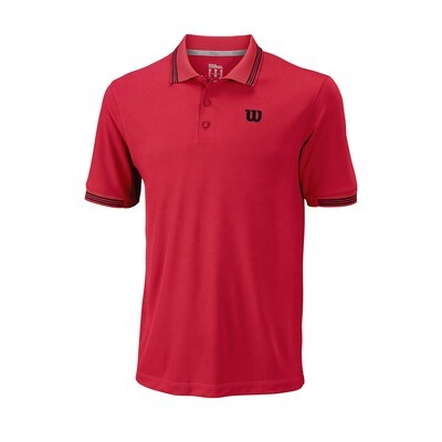 Wilson Mens Star Tipped Polo - Infrared