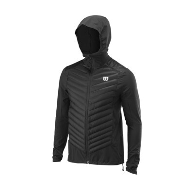 Wilson Mens Hybrid Hooded Jacket - Black