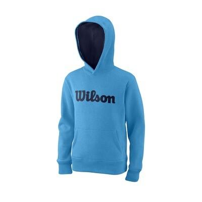 WIlson Youth Script Cotton Hoodie - Coastal Blue