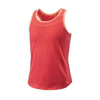 Wilson Girls Competition Tank - Cayenne