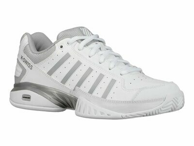 K-Swiss Receiver IV Ladies Tennis Shoes - White/High Rise