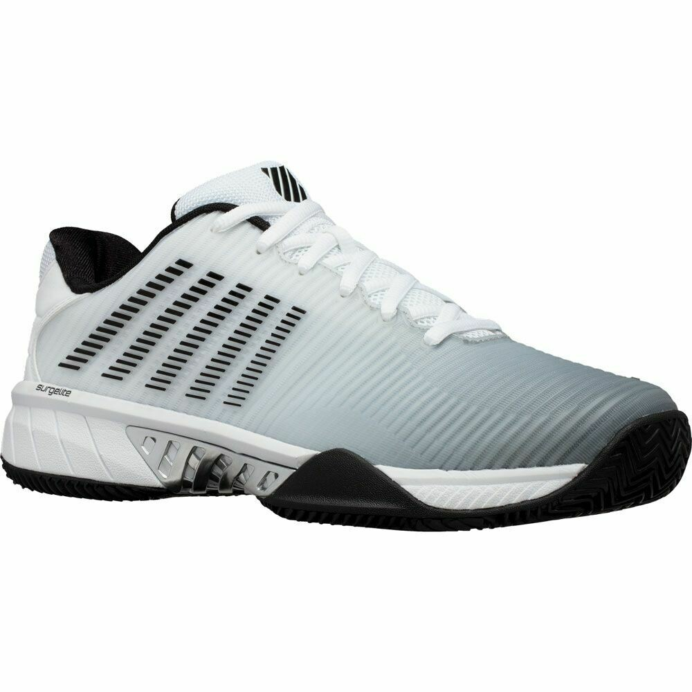 K-Swiss Hypercourt Express 2 HB Tennis Shoes - White/High Rise/Black