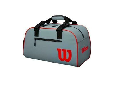 Wilson Clash Small Duffle Bag - Sliver/Red