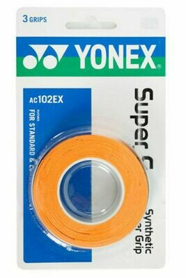 Yonex Super Grap - 3 Pack - Orange