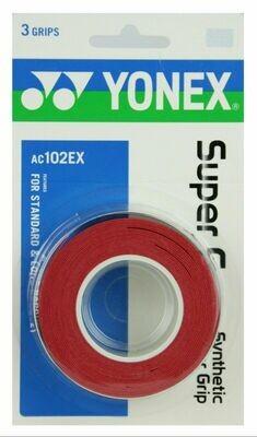 Yonex Super Grap Red - 3 Pack