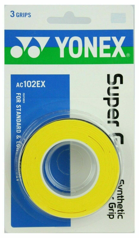 Yonex Super Grap - 3 Pack - Yellow