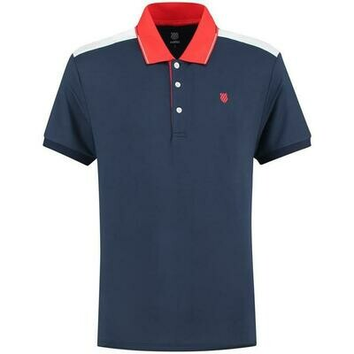 K-Swiss Heritage Mens Sport Polo - Navy Blue