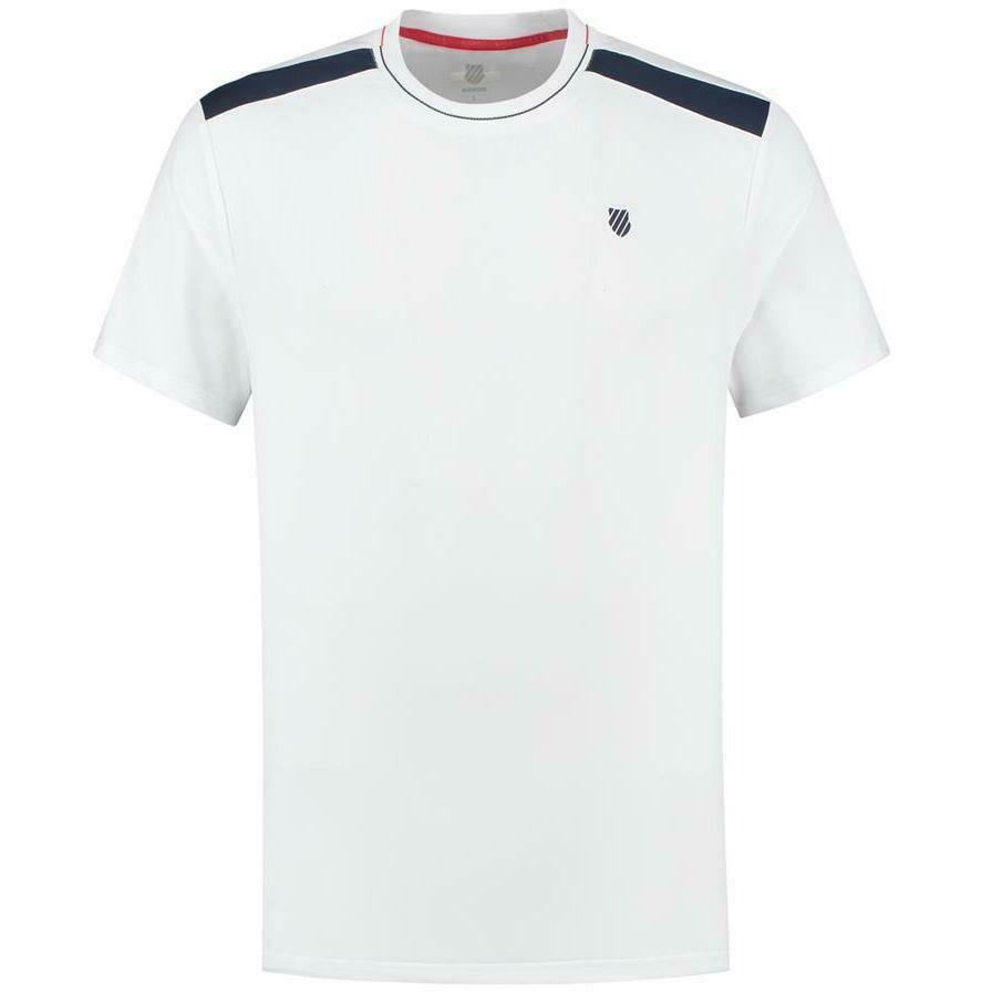 K-Swiss Heritage Mens Sport Tee - White